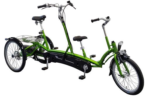 Tricycle tandem adult and kind